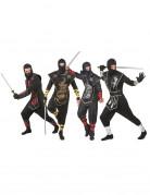 Ninja-Gruppenkostüm für Erwachsene Halloween-Kostüm schwarz-bunt