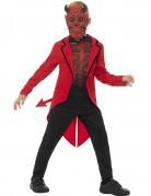 Teuflischer Dämon Halloween-Kinderkostüm rot-schwarz