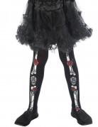 Dia de los Muertos Kinder-Strumpfhose Halloween-Accessoire schwarz-bunt