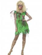 Blutige Zombie-Fee Halloween Kostüm für Damen grün