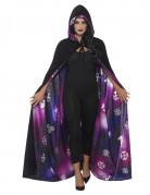 Wende-Umhang Galaxie Accessoire schwarz-violett