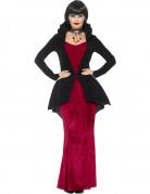 Erhabene Vampirgräfin Halloween Kostüm für Damen schwarz-rot