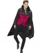 Teuflischer Vampir Halloween Kostüm für Herren rot-schwarz