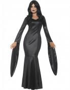 Unsterbliche Vampirin Halloween Damenkostüm schwarz