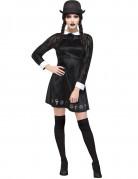 Gothic Vampir-Schulmädchen Halloween Kostüm für Damen schwarz-weiss