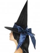 Hexenhut mit Schleife Halloween Kostüm-Accessoire schwarz-lila