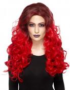 Gelockte Glamour Perücke für Damen rot