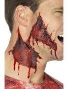 Tattoowunde zum aufkleben Halloween 2 Stück rot