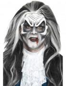 Latexapplikation Vampirgesicht weiß-schwarz