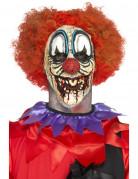 Horrorclown-Latexapplikation Halloween bunt
