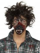 Latexapplikation Werwolfmund Halloween rot