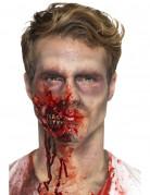 Zombie-Mund Latex-Applikation Horrorwunde rot