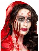 Kratzwunden Halloween-Latexapplikationen 4 Stück rot