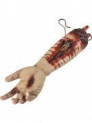 Aufgeschnittener Arm mit Zange Horrodeko hautfarben-rot 45cm