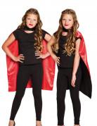 Halloween-Wendecape Kinderumhang schwarz-rot