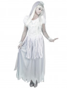 Einsame Geisterbraut Halloween Kostüm für Damen weiss