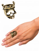 Piratenkönig Ring Halloween-Schmuck gold