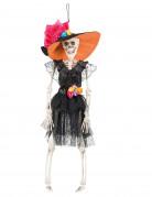 Mexikanisches Skelett Tag der Toten Hängedeko schwarz-weiss-bunt