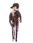 Animierte Hexe-Dekofigur mit Sound Halloween-Hängedeko bunt 170cm