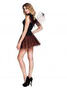 Halloween-Accessoire-Set Dunkle Fee Rock und Flügel rot-schwarz