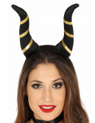 Teuflische Dämonenhörner Halloween Kostüm-Accessoire schwarz-gold