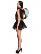 Dunkler-Engel-Kostüm Tutu und Flügel schwarz