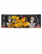 Tag der Toten Banner Dia de los Muertos Wanddeko schwarz-bunt 74x220cm