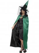 Wende-Cape Halloween-Umhang für Damen grün-schwarz