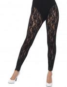 Gothic-Leggings mit Spitze Kostüm-Accessoire transparent-schwarz