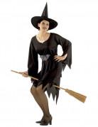 Klassische Zauberin Halloween Damenkostüm schwarz