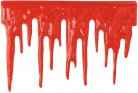 Blutstropfen Halloween Wanddeko-Folie rot 60x40cm