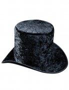 Samt-Zylinder Hut schwarz