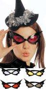 Fledermaus Brille schwarz-bunt