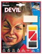 Teufel Make-Up für Kinder Halloween 3-teilig schwarz-gelb-rot