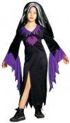 Zauberin Halloween Kinderkostüm Hexe schwarz-lila