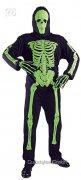 Neon Skelett Halloween-Kostüm schwarz-neongrün