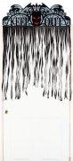 Gruseliger Türvorhang Halloween Party-Deko schwarz 100x193cm