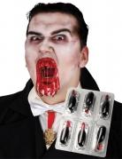 Hochwertige Theater-Blut-Kapseln 6 Stück rot