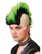 Irokesen Perücke schwarz-grün