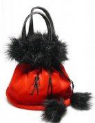 Handtasche Teufelin Kostüm-Zubehör rot-schwarz