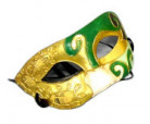 Domino Maske Augenmaske Kostümzubehör grün-gold-schwarz