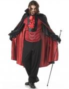 Fürst der Nacht Vampir Kostüm schwarz-rot