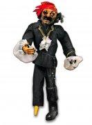 Zorniger Pirat Halloween-Hängedeko weiss-schwarz-rot 90x33cm