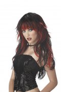 Gothic Perücke schwarz-rot