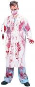 Horror Doktor Halloween-Kostüm weiss-rot
