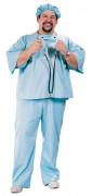 Doctor Mad Costume XXL hellblau