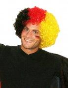 Afro-Perücke Deutschland Fußball Fanartikel schwarz-rot-gelb