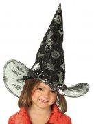 Kinder Hexenhut Halloween schwarz