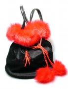 Teufelin-Handtasche schwarz-rot