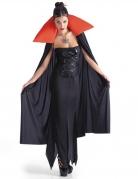 Vampirin-Umhang Halloween-Cape schwarz-rot